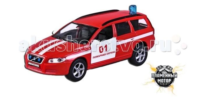 Пламенный мотор Машинка инерционная Volvo Пожарная охрана (свет, звук) 1:32Машинка инерционная Volvo Пожарная охрана (свет, звук) 1:32Машинка инерционная Пламенный мотор Volvo. Пожарная охрана привлечет к себе внимание не только детей, но и взрослых. Машина представляет собой автомобиль пожарной охраны марки Volvo с открывающимися дверьми. Авто оснащено световыми и звуковыми эффектами, а также имеет инерционный ход. Машинку необходимо отвести назад, затем отпустить - и она быстро поедет вперед. Прорезиненные колеса обеспечивают надежное сцепление с любой поверхностью пола. Ваш ребенок будет часами играть с этой машинкой, придумывая различные истории. Порадуйте его таким замечательным подарком! Рекомендуется докупить 3 батарейки типа LR41 (товар комплектуется демонстрационными).<br>