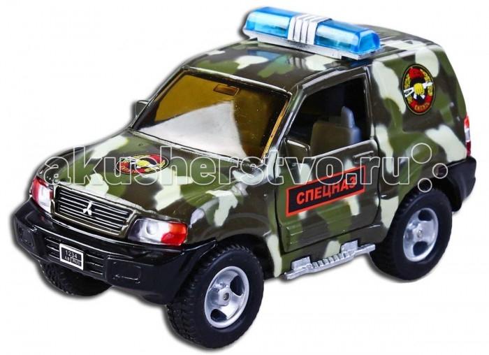 Пламенный мотор Машинка инерционная Mitsubishi Спецназ (свет, звук) 1:32Машинка инерционная Mitsubishi Спецназ (свет, звук) 1:32Металлическая инерционная модель выполнена с учетом всех деталей и особенностей оригинала – внедорожника Mitsubishi. Игрушка с инерционным механизмом: стоит только откатить машинку назад, а затем отпустить, и она поедет вперед. У машины открываются двери. Если нажать на кнопку, расположенную на крыше, то послышится спецсигнал и замигает проблесковый маячок. Выполнена в масштабе 1:43. Игрушка работает от двух батареек LR41 1,5V (в комплекте).<br>