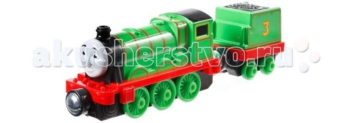 Thomas &amp; Friends Паровозик Генри с прицепомПаровозик Генри с прицепомПаровозик Генри с прицепом один из персонажей популярного мультфильма Томас и друзья, повествующего о приключениях веселых паровозиков.   Симпатичный зеленый паровозик Генри выполнен очень реалистично, он воспитанный и необычайно вежливый. В комплект к паровозику входит вагон, который можно отцеплять.   Прототипом для персонажа стал паровоз Stainer 4-6-0 Класса 5.  Игрушка совместима с железными дорогами из наборов серии Collectible Railway.<br>