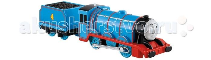 Thomas &amp; Friends Паровозик Гордон с вагономПаровозик Гордон с вагономПаровозик Гордон с вагоном один из персонажей популярного мультфильма Томас и друзья, повествующего о приключениях веселых паровозиков.   Симпатичный Гордон это синий паровозик, один из самых быстрых и сильных на острове. Он очень добрый, отзывчивый и всегда готов прийти на помощь своим товарищам.  В комплект к паровозику входит вагон, который можно прицеплять и отцеплять.  Паровозик оснащен мотором и совместим с другими игрушками и железными дорогами из наборов серии Track Master.<br>