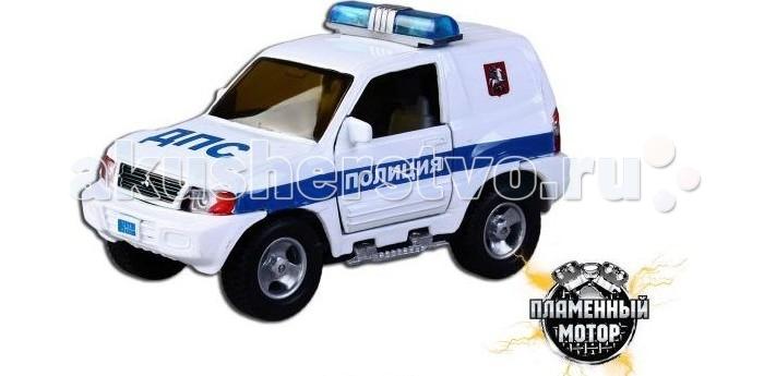Пламенный мотор Машина инерционная Mitsubishi Полиция ДПС (свет, звук) 1:43