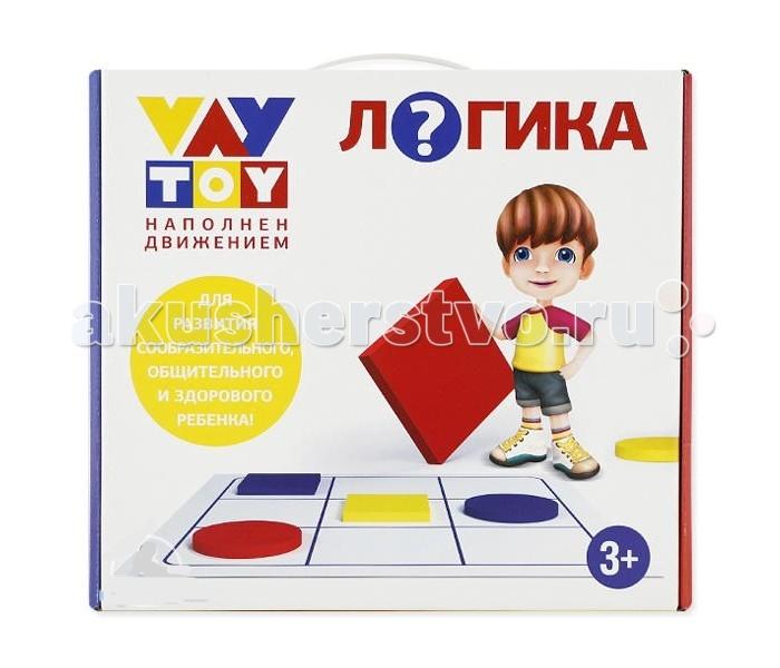 Vay Toy Развивающая игра ЛогикаРазвивающая игра ЛогикаДля развития логического мышления ребенка используйте подвижную игру VAY TOY ЛОГИКА - геометрическое судоку. Не усаживайте ребенка за стол! Превратите занятия в увлекательную игру!  Подвижные развивающие игры VAY TOY специально созданы для развития сообразительного, общительного и здорового ребенка. Веселое обучение в подвижной форме вместе с ними возможно как дома вместе с родителями, так и в детском саду с воспитателем или в центре раннего развития с педагогом дополнительного образования. Логика, память, внимание, пространственное мышление, развитие речи у малышей — важные результаты общения с VAY TOY. Кроме того, именно эти игры удовлетворяют естественную потребность ребенка в движении.  Развитие в игре! Что может быть полезнее и увлекательнее? Все материалы, используемые в игре, являются экологически чистыми, безопасными, удобными и приятными на ощупь.  Фигурки выполнены из легкого мягкого полимера. А игровое поле - из специальной безопасной для малышей медицинской клеенки повышенной износостойкости с нанесением нетоксичной гипоаллергенной невыцветающей краски. Играйте в удовольствие!<br>