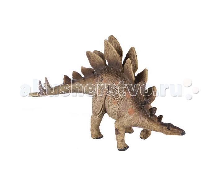 Dinosaur Family Динозавр СтегозаврДинозавр СтегозаврDinosaur Family Динозавр Стегозавр   Стегозавр - динозавр юрского периода они перемещались на четырех лапах. Передние лапы стегозавра были маленькими и короткими по сравнению с мощными задними. Весь вес держался на задних лапах. Тело имело весьма необычные пропорции из-за того, что задние лапы были значительно больше передних, спина выгибалась в огромный горб. Пластины стегозавра были слишком не прочными для защиты. При нападении, крупный ящер мог без особых усилий оторвать их. Стегозавр мог не только напугать, но и сильно или даже смертельно ранить нападающего ящера, атакуя хвостовыми шипами в не защищенные лапы и живот.  Реалистичная фигурка изготовлена из высококачественного пластика.   Размер: 15 х 9 см<br>