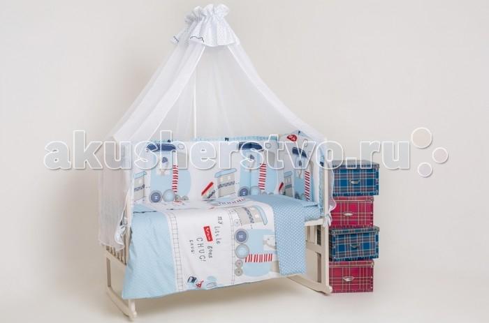 Комплект для кроватки Мой Ангелочек Дизайн № 5 (7 предметов)