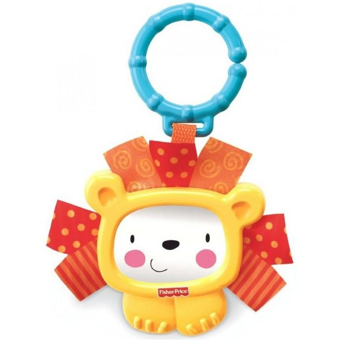 Подвесная игрушка Fisher Price Mattel Зеркало-левMattel Зеркало-левОчаровательный львенок с удовольствием станет первой игрушкой малыша.  У него привлекательная мордочка, кольцо, с помощью которого можно прикреплять погремушку к кроватке, коляске или автокреслу, и безопасное зеркальце.   У погремушки очень удобная ручка. Грива лювенка сделана из ткани, что даст возможность ребенку развивать свои тактильные ощущения.<br>
