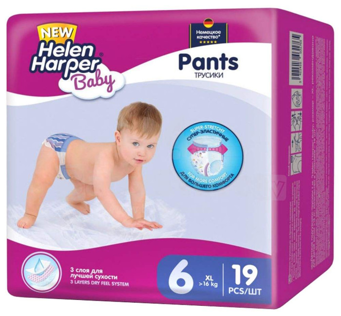 Helen Harper Подгузники-трусики Baby XL >16 кг 19 шт.