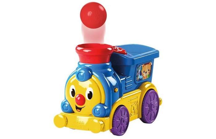 Развивающая игрушка Bright Starts Весёлый паровозик с мячикамиВесёлый паровозик с мячикамиBright Starts Весёлый паровозик с мячиками  Для того чтобы паровозик отправился путь, нужно сначала нажать на кнопку включения, а затем - на большую красную кнопку  Поместите шарик в кабину машиниста, и мячик забавно выпрыгнет из трубы паровозика  Игра сопровождается весёлой музыкой  Громкость музыки регулируется   Размеры товара: 12.45 x 26.16 x 17.2 см   В комплекте: Паравозик 3 мячика  3 батарейки типа АА входят в комплект Возраст: от 6 месяцев<br>