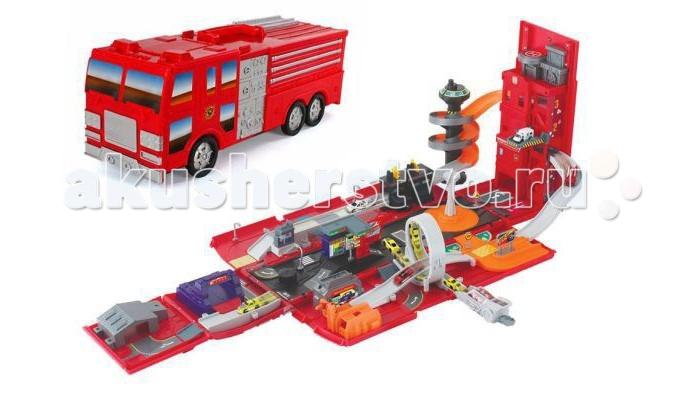 Пламенный мотор Набор-трансформер 2 в 1 Пожарная машина Автогород