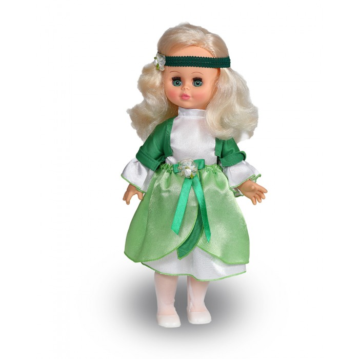 Весна Озвученная Кукла Оля Фея Свежей зелени 43 смОзвученная Кукла Оля Фея Свежей зелени 43 смВесна Озвученная Кукла Оля Фея Свежей зелени 43 см 1125/о  Кукла Оля - Фея Свежей Зелени одета в яркий наряд, который очень подходит ее образу. На ней - пышное платье с ленточками и цветочком, на голове - повязка, подходящая под платье, а на ножках - ажурные колготочки и стильные балетки.   Оля может стать для девочки не просто игрушкой, а близкой подружкой, ведь она умеет произносить различные фразы, присущие подругам, например, Теперь ты моя подруга, Нам нужно быть красивыми, Не забудь про маникюр, Мы сегодня самые красивые и другие. Звуковой модуль находится на спине игрушки.  Высота: 43 см.<br>