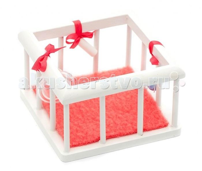 Pupsique Манеж для куклы с аксессуарамиМанеж для куклы с аксессуарамиМанеж для куклы с аксессуарами - это прекрасный аксессуар для игры с мини-куклами.   Ваш ребенок может придумать и разыграть различные ситуации с мини-куклами и манежем.  Игрушка изготовлена из высококачественного материала, в производстве используется древесина бука и клена.   Игрушка обеспечивает развитие и обучение вашего ребенка в процессе игры.  В комплекте - манеж, коврик в манеж и подвесные игрушки.  Размер 7.5х5х7.5 см.<br>