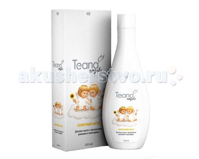 Teana Angels Солнечный ангел детское масло с экстрактами ромашки и календулы, 250 мл