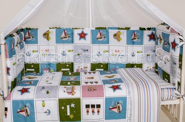 Бампер для кроватки Мой Ангелочек Дизайн № 9