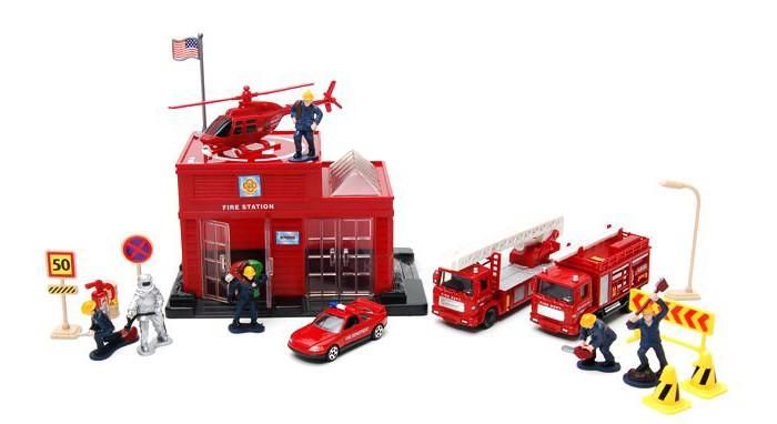 MotorMax Пожарная станция 20 предметовПожарная станция 20 предметовИгровой набор MotorMax Пожарная станция 20 предметов   В наборе:    Пожарная станция (18х14х10 см)  Пожарная машина (14 см)  Пожарная машина (10 см)  Вертолет (17 см)  Машинка (7,5 см)  Дорожные знаки - 6 шт.  Фигурки людей - 6 шт. (3-5 см)  Фонарь  Флаг американский  Огнетушитель   Масштаб машинок: 1:34, 1:39<br>