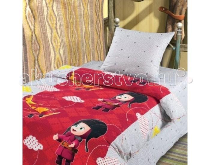Постельное белье 1.5-спальное Непоседа Маша и Медведь Высший пилотаж 1.5-спальное (3 предмета)