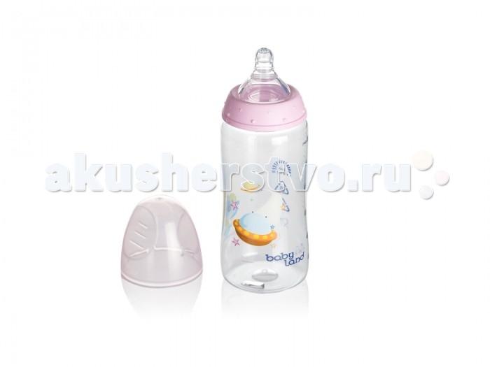 Бутылочка Babyland детская 300 млдетская 300 млBabyland детская бутылочка 300 мл.  Пластиковая бутылочка Babyland станет хорошим помощником молодым родителям в кормлении малыша. Бутылочка имеет широкое горлышко и мерную шкалу, благодаря которой удобно готовить необходимое количество молочной смеси и контролировать количество съедаемого малышом.   Разработанная совместно со специалистами высокого профиля, она позволяет сочетать искусственное и естественное вскармливания. Пластиковая бутылочка имеет небольшой вес, малышу будет удобно есть самостоятельно. Бутылочки выполнены в различной цветовой гамме.<br>