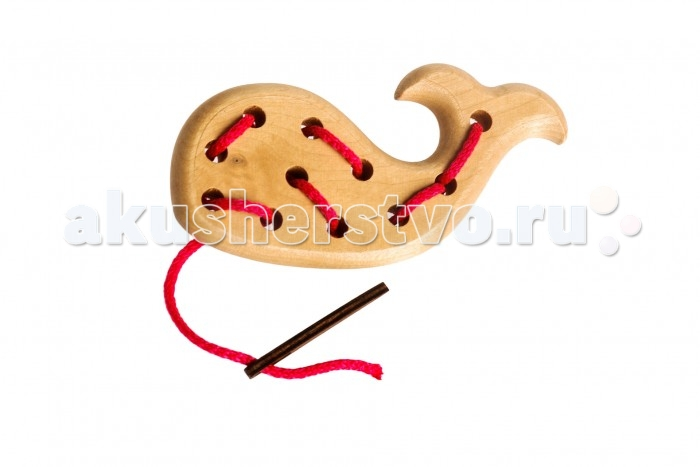 Деревянная игрушка Томик Шнуровка Кит