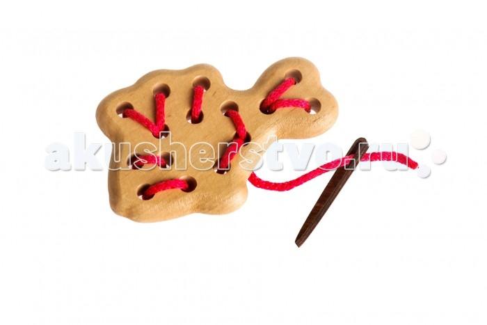 Деревянная игрушка Томик Шнуровка Рыбка