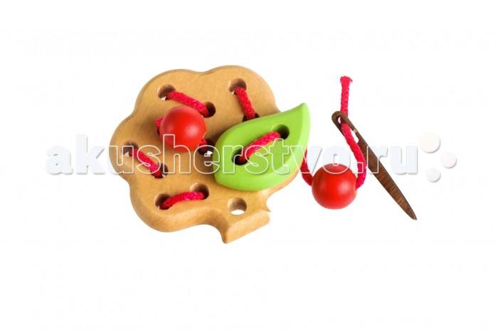 Деревянная игрушка Томик Шнуровка Яблоня