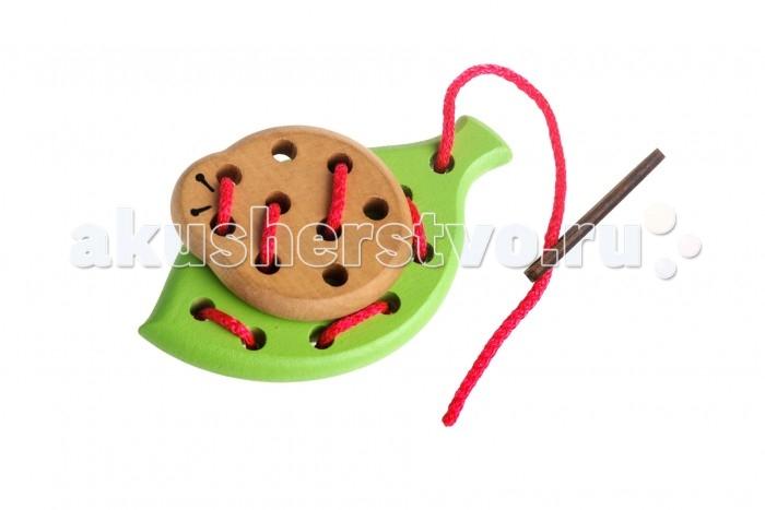 Деревянная игрушка Томик Шнуровка Лето