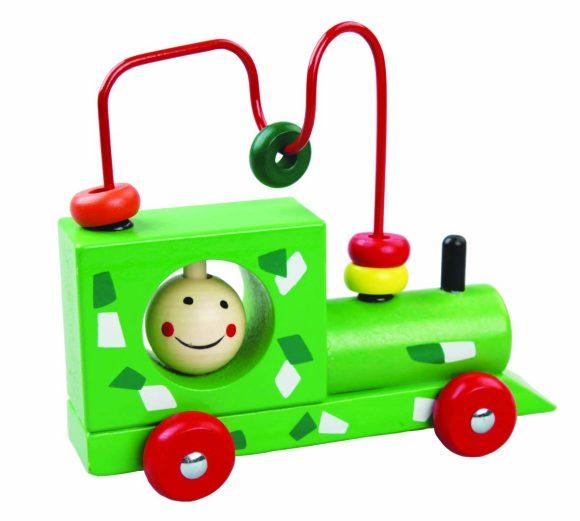 Деревянная игрушка Mapacha Лабиринт Паровоз-каталка