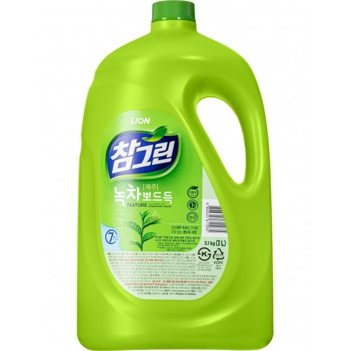 CJ Lion Средство для мытья посуды Chamgreen С ароматом зеленого чая 2970 мл
