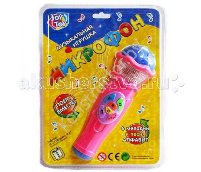 Музыкальная игрушка Play Smart Микрофон на батарейкахМикрофон на батарейкахPlay Smart микрофон, 6 мелодий, песня - алфавит, на батарейках, 26 х 19,5 см - необходимая и незаменимая вещь для юных артистов.  Микрофон -это замечательная музыкально-развивающая игрушка, которая обязательно понравится вашей юной певице. Эта модель отличается простотой в использовании, поэтому с ней сможет разобраться даже самый маленький член вашей семьи. Микрофон оснащен 6 мелодиями и занимательной песней - алфавитом, который идеально подходит для дошкольного развития ребенка. Эта простая, но в то же время, оригинальная игрушка будет способствовать развитию музыкального слуха, чувства ритма, артистизма и самовыражения. Она также тренирует внимательность и музыкальную память.<br>