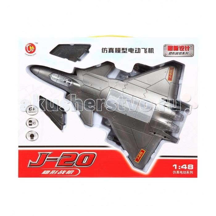Игруша Самолет J-20 1:48Самолет J-20 1:48Игруша Самолет J-20 1:48  Игрушечный корабль от компании Игруша понравится каждому малышу. Игрушка работает от батареек, а все ее элементы изготовлены из качественных и безопасных материалов. Со световыми эффектами  Тип батареек: 3 х АА Возраст: от 3 лет<br>