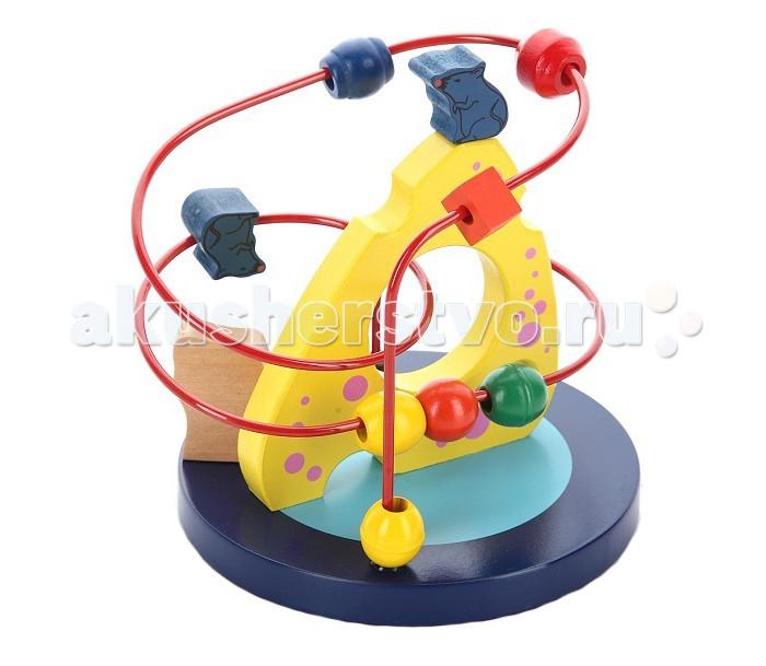Деревянная игрушка Mapacha Рамка-лабиринт Кошки-мышкиРамка-лабиринт Кошки-мышкиРамка-лабиринт Mapacha Кошки-мышки - это настоящий тренажер для малышей, отлично развивающий мелкую моторику и координацию движений обеих рук.   Двигая разноцветные бусины по спирали лабиринта из одного конца в другой, ребенок мысленно вырабатывает определенную последовательность действий, ведь бусинок - много, а спираль - одна. Игрушка способствует развитию логики и пространственных представлений, также ее можно использовать как счеты.<br>