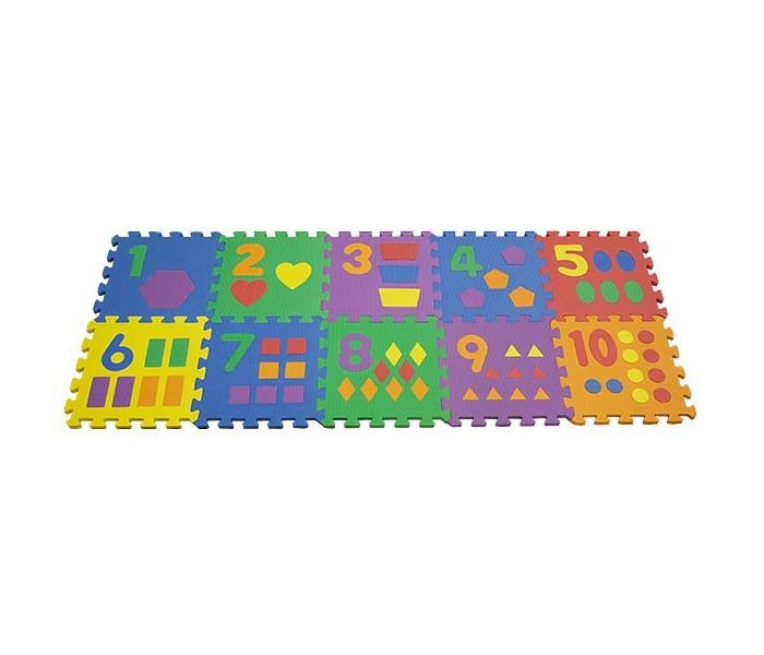 Игровой коврик FunKids Цифры-3Цифры-3Игровой коврик FunKids Цифры-3 - набор из 10 квадратных плит размера 12 (30х30 см) разного цвета с вложенными цифрами от нуля до девяти и маленькими геометрическими фигурками количествоо которых соответствует цифре на плитке.   Особенности: Образовательный - изучайте цифры и используйте плиты как конструктор; Легко собирается - конфигурацию настила меняйте в зависимости от геометрии комнаты; Мягкая рифленная поверхность - смягчает удары при падении и поглащает шум; Безопасный - не содержит фталат, аммиак и ПВХ; Удобный - легкий и компактный для хранения и транспортировки.  Размер частей (плит): 30 см х 30 см х 1,5 см Площадь набора пазлов в собранном виде: 0,9 кв.м.  Состав: EVA foam (вспененный полиэтилен с добавлением этилвинилацетата)<br>