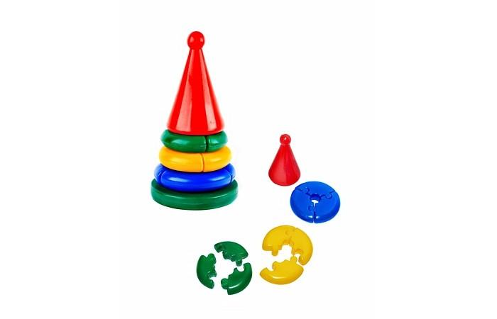 Развивающая игрушка СВСД Пирамидка ЛогикаПирамидка ЛогикаРазвивающая игрушка СВСД Пирамидка Логика  Состоит из основания, 5-ти колец, собирающихся по принципу пазлов, наконечника-конуса с шариком на вершине.   Высота 332 мм, диаметр основания-качалки 155 мм.<br>