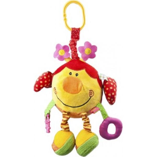 Подвесная игрушка Жирафики Божья коровка 93560Божья коровка 93560Подвесная игрушка Жирафики Божья коровка - в одном ушке - погремушка, а в другом - шуршалка. Одна ручка у нее в виде петельки, а другая - прорезыватель для зубов. Но это еще не все секреты божьей коровки: в одной лапке у нее - маленькое зеркальце, а в другой - пищалка.  Размеры: 16х15х30 см<br>