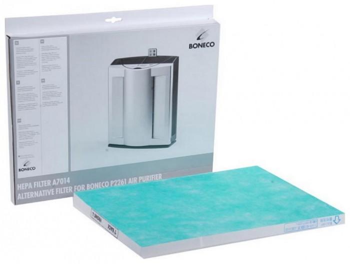 Boneco Фильтр HEPA для модели P2261Фильтр HEPA для модели P2261Boneco HEPA filter Фильтр HEPA который используется в очистителях воздуха бытового назначения Boneco P2261. Данное приспособление является основным барьером для пыли, бактерий и микроорганизмов.   Конструктивно Boneco A7014 Hepa filter состоит из специального волоконного материала, который способен улавливать микрочастицы пыли размером от 0,001 микрона. Благодаря специальной конструкции, пыль оседает внутри фильтра, при это его можно использовать длительное время - в зависимости от степени загрязнения воздуха, а так же интенсивности использования устройства. В сочетании с другими фильтрами, воздействие HEPA-фильтра усиливается, что позволяет более эффективно очищать воздух.  Фильтр подлежит замене в среднем один раз в году.Замену фильтра можно осуществить самостоятельно, не прибегая к услугам специалистов, но перед этим внимательно прочитать инструкцию.<br>