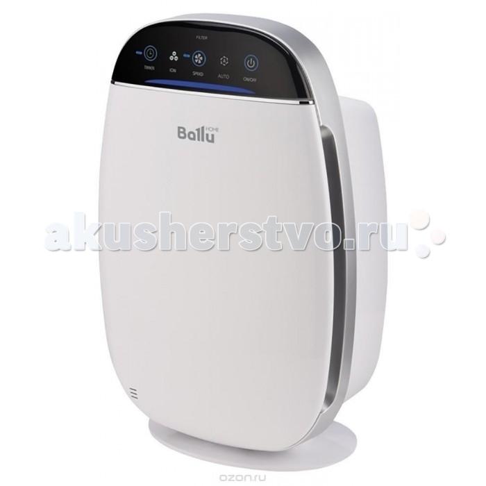 Ballu Очиститель воздуха Ballu AP-155Очиститель воздуха Ballu AP-155Ballu Очиститель воздуха Ballu AP-155 в нём предусмотрены все функции и технологии, необходимые для эффективной и качественной очистки воздуха в помещении.5 ступеней очистки воздуха, 4 скорости работы вентилятора, удобное сенсорное управление, ионизатор воздуха (отключаемый), 8-часовой таймер на отключение прибора, индикатор уровня чистоты воздуха. Для своевременной замены фильтров в очистителе автоматически учитывается срок работы фильтров. Очиститель обслуживает помещение площадью до 20 кв. метров.  Уникальным решением в приборе является встроенный датчик освещенности помещения. При низкой освещенности в помещении очиститель автоматически переключится в режим тихой скорости Quiet, выключится практически вся индикация на панели управления. Это сделано для того, чтобы создать максимально комфортные условия для сна и отдыха. При более яркой освещенности прибор автоматически вернется в режим работы, установленный ранее.  Назначение:Прибор предназначен для очистки воздуха в помещении от пыли, шерсти, аллергенов и прочих вредных примесей.  Сфера применения:Городские квартиры, таунхаусы, загородные дома, дачи, офисы.  Принцип действия:С помощью вентилятора воздушный поток проходит через Pre-Carbon фильтр, задерживающий относительно крупные частицы. Затем воздух проходит через HEPA-фильтр, задерживающий пыльцу, аллергены и прочие частицы размером до 0,3 мкм. Далее VOC-фильтр 2 в 1 (угольный фильтр + цеолит), абсорбирует и впитывает неприятные запахи, химические соединения, такие как CO2, формальдегид, фреон. Завершает очистку воздуха ионизатор, который генерирует необходимое количество отрицательных ионов и очищает воздух в помещении. Ионы соединяют частицы пыли между собой в более крупные кластеры, которые лучше улавливаются фильтром, что дополнительно усиливает эффект очистки.  Особенности: 5 ступеней очистки воздуха 4 скорости работы вентилятора Ионизация воздуха (отключаемая) Индикация чистоты воздуха