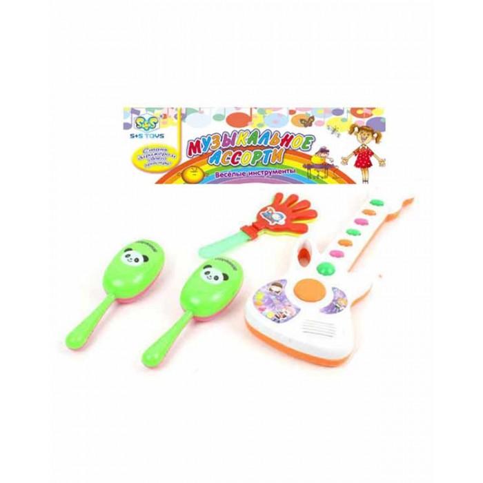 Музыкальная игрушка S+S Toys Набор музыкальных инструментов СС75452Набор музыкальных инструментов СС75452S+S Toys Набор музыкальных инструментов позволит малышу вместе с друзьями устроить зажигательный концерт!   В набор входят разнообразные инструменты, яркое цветовое исполнение которых обязательно привлечет внимание ребенка.   Музыкальные игрушки помогают развить у ребенка чувство ритма и такта, фантазию и творческое мышление.<br>
