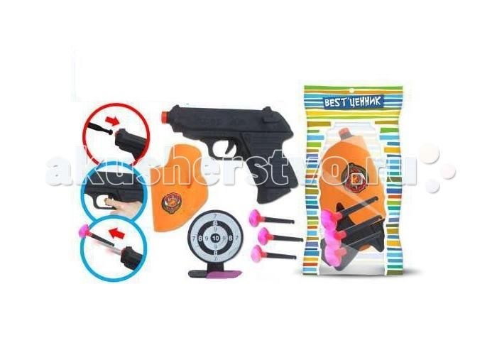 S+S Toys Набор пистолет с присосками, кобура, мишень