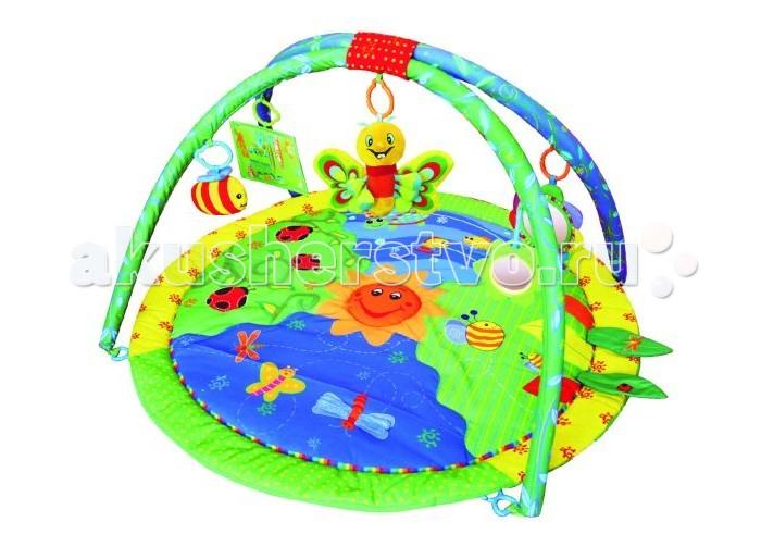 Развивающий коврик Жирафики ЛетоЛетоРазвивающий коврик Жирафики Лето выполнен из безопасных высококачественных материалов. В комплекте с моделью идут 5 ярких игрушек, которые станут лучшими друзьями ребенка.  Особенности: Развивает воображение, цветовое восприятие, мелкую моторику, тактильные ощущения. Инновационные перемещаемые дуги дают малышам много игровых возможностей. Развивающий коврик станет замечательной первой игрушкой для вашего малыша.  Размеры: 72х6.5х70 см<br>