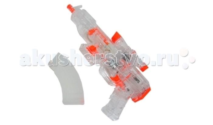 Zhorya Водяное оружие Водный автоматВодяное оружие Водный автоматZhorya Водяное оружие Водный автомат  Водяной пистолет сделан из прозрачного пластика с оранжевыми элементами. Внешним видом он похож на автомат модели АК-47. Игра принесет еще больше веселья и задора благодаря звуковым и световым эффектам. Стрелять водой особенно приятно и комфортно в жаркое время года. Игра с водным автоматом разовьет глазомер у ребенка и поднимет ему настроение.  Возраст: от 5 лет Наличие батареек: не входят в комплект. Тип батареек: 4 x AA / LR6 1.5V (пальчиковые).<br>