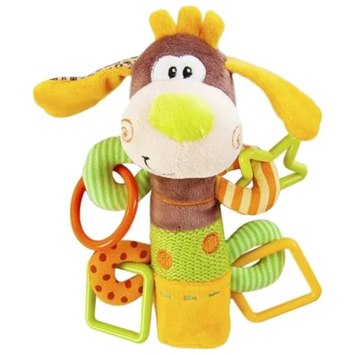 Погремушка Жирафики Щенок с пищалкой 93558Щенок с пищалкой 93558Игрушка Жирафики Щенок с пищалкой - это симпатичная игрушка, которая станет прекрасным подарком для вашего младенца. Внутри ее туловища спрятан сюрприз, веселая и звонкая пищалка. Лапки щенка - это разноцветные фигурные прорезыватели для молочных зубов малыша.  Особенности: Внутри туловища у этих симпатичных игрушек спрятан сюрприз — веселая и звонкая пищалка. Лапки Мишки — это разноцветные фигурные прорезыватели для молочных зубов малыша. Изготовлена игрушка из высококачественных и безопасных материалов, поэтому подойдет для игры самых маленьких.  Размеры: 16х5х22 см<br>