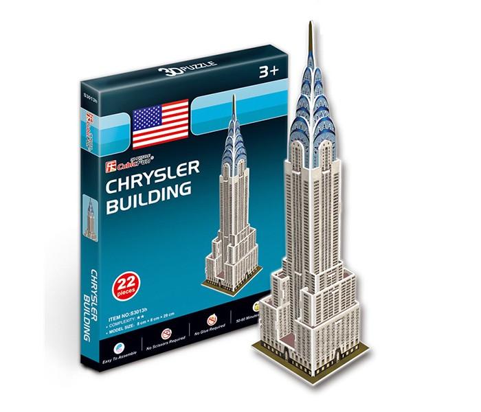 Конструктор CubicFun 3D пазл Небоскреб Крайслер-билдинг (США) мини серия3D пазл Небоскреб Крайслер-билдинг (США) мини серияCubicFun 3D пазл Небоскреб Крайслер-билдинг (США) мини серия.  Крайслер Билдинг - один из самых известных и узнаваемых небоскребов Нью-Йорка, расположенный в Мидтауне Манхэттена на пересечении 42 Восточной улицы и Лексингтон-авеню, рядом с вокзалом Гранд Централ. Очень необычны как внешний вид этого семидесятисемиэтажного здания, так и история его строительства.  Крайслер Билдинг - классический пример стиля ар-деко в архитектуре. В отделке построенного из кирпича здания широко использовалась нержавеющая сталь, в том числе и для венчающих здание арочной короны и шпиля. Не менее роскошно отделаны также вестибюли, лифты и другие внутренние помещения небоскреба.  Металлическая корона здания, днем отражающая солнечный свет, ночью освещается многочисленными прожекторами.  По мнению многих специалистов Крайслер Билдинг - это самый красивый из многочисленных небоскребов Манхэттена. Здание традиционно входит в десятку самых любимых архитектурных сооружений Соединенных штатов Америки.  Функции: - помогает в развитии логики и творческих способностей ребенка - помогает в формировании мышления, речи, внимания, восприятия и воображения - развивает моторику рук - расширяет кругозор ребенка и стимулирует к познанию новой информации.  Практические характеристики: - обучающая, яркая и реалистичная модель - идеально и легко собирается без инструментов - увлекательный игровой процесс - тематический ассортимент - новый качественный материал (ламинированный пенокартон).<br>