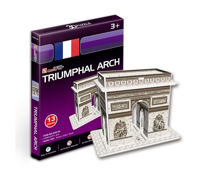 Конструктор CubicFun 3D пазл Триумфальная арка (Франция) мини серия3D пазл Триумфальная арка (Франция) мини серияCubicFun 3D пазл Триумфальная арка (Франция) мини серия.  Серия шедевры мировой архитектуры Триумфальная арка (Париж).  Знаменитая триумфальная арка, расположенная на площади Шарля де Голля, в верхней части Елисейских полей.  Во время строительства она находилась за чертой города.  Сооружена она была в 1806—1836 годах по распоряжению Наполеона архитектором Жаном Шальгреном.  Функции: - помогает в развитии логики и творческих способностей ребенка - помогает в формировании мышления, речи, внимания, восприятия и воображения - развивает моторику рук - расширяет кругозор ребенка и стимулирует к познанию новой информации.  Практические характеристики: - обучающая, яркая и реалистичная модель - идеально и легко собирается без инструментов - увлекательный игровой процесс - тематический ассортимент - новый качественный материал (ламинированный пенокартон).<br>
