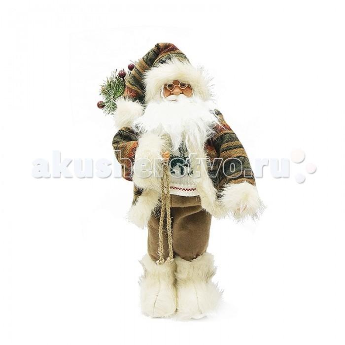 Maxitoys Фигура Дед Мороз с Мешком музыкальный 50 см