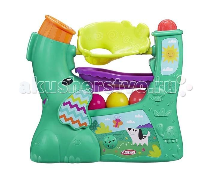 Развивающая игрушка Playskool Hasbro Веселый слоникHasbro Веселый слоникPlayskool Слоник - замечательная игрушка для малышей от компании Hasbro!   Она поможет ребенку развить такие навыки, как наблюдение за предметами, цветовое восприятие и мелкую моторику рук.   Кроха будет с интересом наблюдать за тем, как яркие разноцветные шарики перекатываются по желобкам.   Шарики вылетают из хобота под набором воздуха и задорно скатываются - это так весело!   Вы можете менять направление хобота, тем самым меняя режим игры - шарики будут вылетать в том направлении, в котором вы установите хобот.   Шарики можно складывать внутрь, а в комплекте к игрушке также прилагается ручка, предназначенная для удобства переноски.   Игрушка работает на 4 батарейках типа D (не входят в комплект).<br>