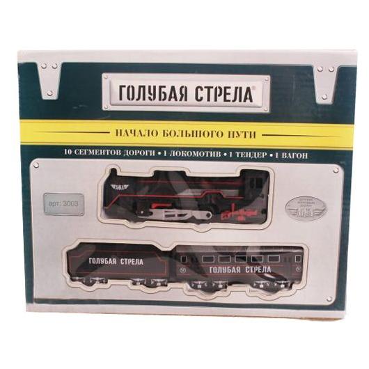 Железные дороги Голубая стрела с погрузчиком и краном 200 см 87157