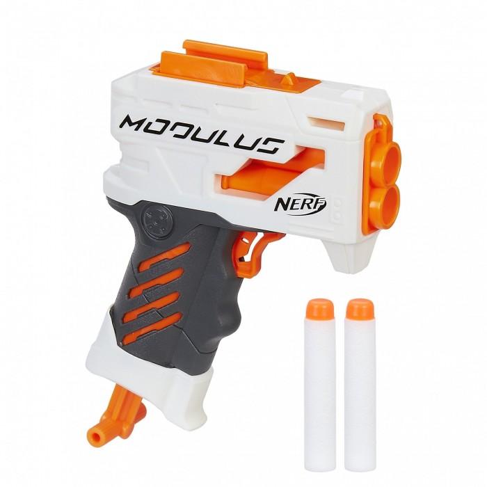 Nerf Hasbro Игрушечный Modulus с 2 патронамиHasbro Игрушечный Modulus с 2 патронамиИнтересная игрушка Nerf Modulus от известного бренда Hasbro представляет собой современный и необычный бластер, который позволит ребенку почувствовать себя настоящим космическим воином.   Вместе с бластером в комплекте также имеются два патрона. Зарядить их в пистолет можно одновременно, при чем сделать это ребенку не составит никакого труда. Патроны никак не смогут навредить ребенку во время игры.   Сам бластер имеет приятную белую расцветку с оранжевыми тонами, а также обладает интересным и необычным дизайном, что сделает игру еще интереснее.   Такая игрушка поможет развить у ребенка фантазию, ведь малышу предстоит придумать захватывающую историю, где он будет спасать мир от злодеев.<br>