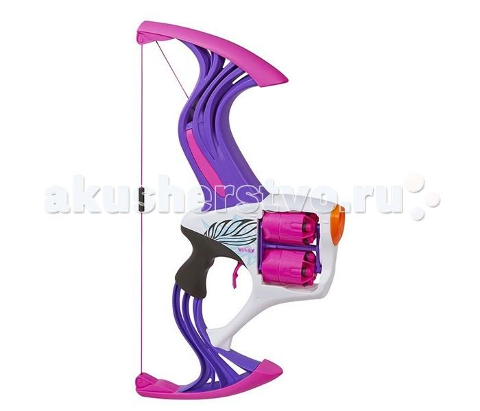 Nerf Hasbro N-Rebelle Игрушечный Лук с вращающимися барабанамиHasbro N-Rebelle Игрушечный Лук с вращающимися барабанамиЛук N-Rebelle - потрясающее футуристическое оружие, оформленное в фиолетово-розовой цветовой гамме - специально для девочек!   Лук оснащен двумя вращающимися барабанами, каждый из которых вмещает 5 патронов. Потяните тетиву и отпустите ее, чтобы выстрелить!   Дальность выстрела достигает 24 метра - противнику не удастся скрыться!   Потянув спусковой механизм, вы запустите вращение барабанов и выпустите сразу 5 патронов.   В комплект входят 10 патронов, выполненных из вспененного полимера - они мягкие и не оставляют синяков при попадании.   Тем не менее, во избежании травм производитель не рекомендует направлять выстрел в лицо и глаза.   Игрушка предназначенная для детей от 8 лет.<br>