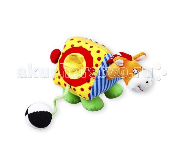 Развивающая игрушка Жирафики ЛошадкаЛошадкаИгрушка Жирафики Лошадка из текстиля для детей до 3 лет. Она сшита из лоскутков тканей разной фактуры и разной расцветки. Если взять лошадку в руку и потянуть ее за хвост, она будет ржать.   Действие сопровождается вибрацией. На туловище лошадки с одной стороны есть маленькое зеркальце, а с другой - небольшое углубление, в которое помещается мягкий мячик на веревочке.  Размеры: 15х10х21 см<br>