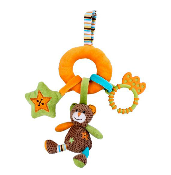 Подвесная игрушка Жирафики Мишка с подвесками