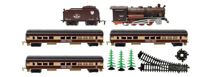 Железные дороги Голубая стрела Паровоз с четырьмя вагончиками 600 см