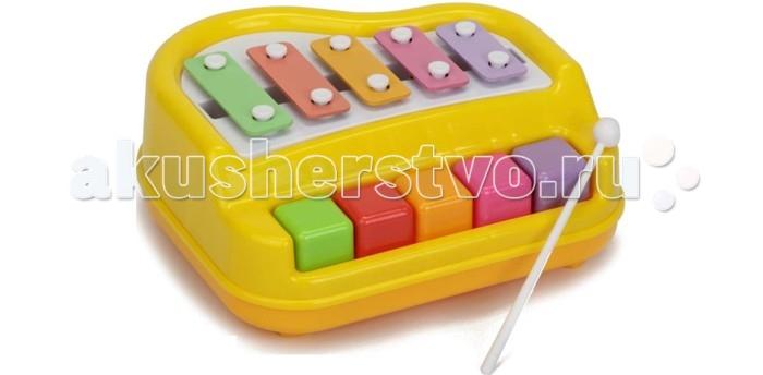 Музыкальная игрушка Игруша МеталлофонМеталлофонМеталлофон это яркий музыкальный инструмент, который непременно заинтересует вашего ребенка.   Разноцветные клавиши, издающие различные звуковые эффекты, непременно приведут его в восторг.   Занятия с этой игрушки способствует развитию цветового и звукового восприятия, моторики и творческих способностей ребенка.   Металлофон изготовлен из полимерных материалов с элементами из металла.<br>