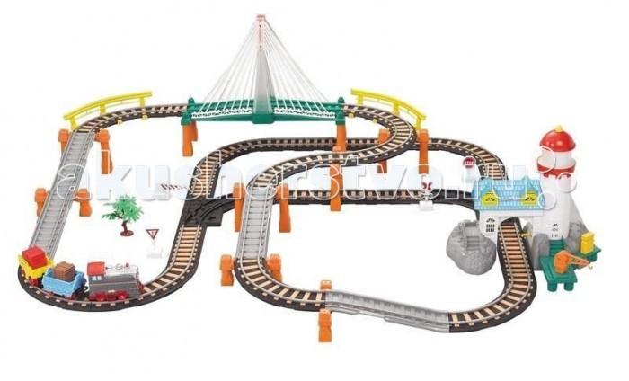 Железные дороги Голубая стрела с маяком и мостом 87174
